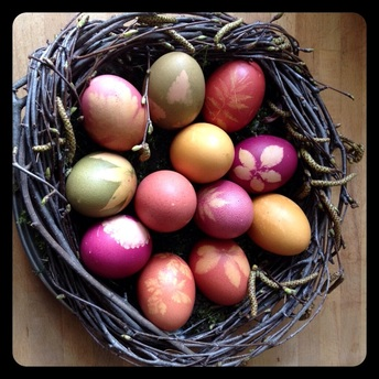 easter eggs, How to dye easter eggs, easter, natural dyes, organic, free range,