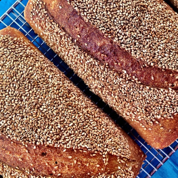 Sesame Seed Sourdough Bread